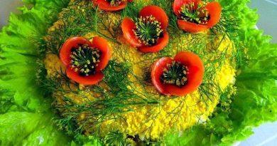 """Salotos """"Raudonosios aguonos"""" – stulbinančiai gražios ir labai skanios!"""
